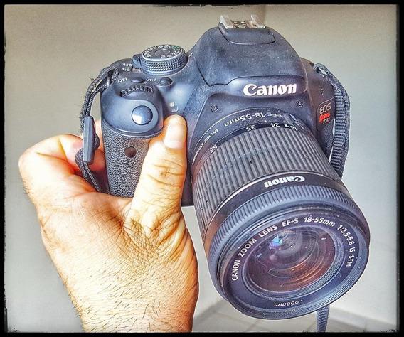 Vendo Câmera Canon T3i Pouco Usada Com Lente 18-55