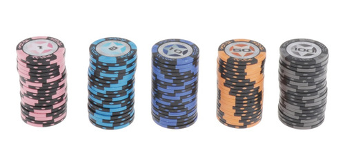 Fichas De Póker Del Casino 1 5 10 50 100