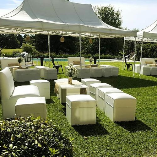 Imagen 1 de 10 de Alquiler De Livings, Mesas Altas, Gazebos, Decks En Pilar