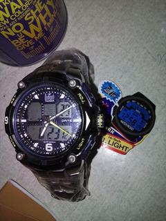 Relógio Dumont Casual Anadigi Sj10117/a Pulseira Aço, Leia..