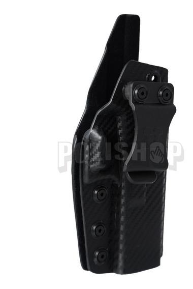 Funda Pistolera Interna Kydex Fibra Carbono Glock 19/23/32