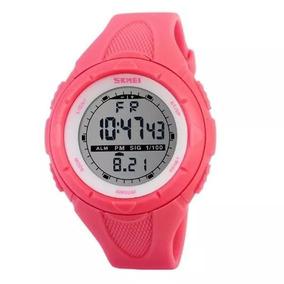 Relógio Feminino Digital Skmei Rosa 1074