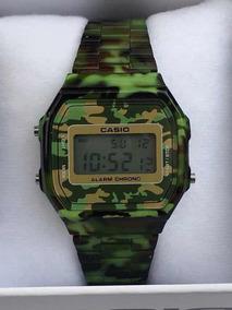 Reloj Casio A168 Camuflaje Verde