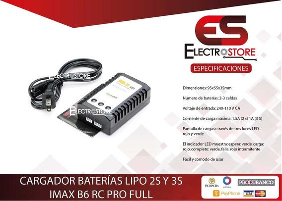 Cargador De Baterías Lipo 2s Y 3s Imax B3 Rc Pro Full