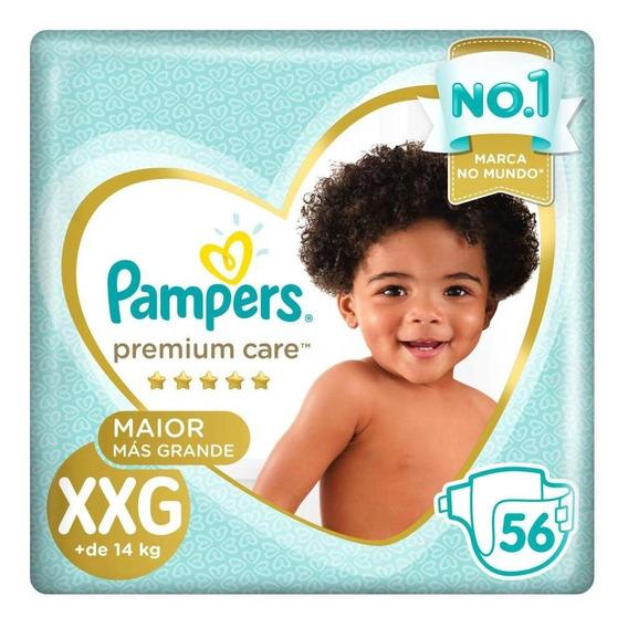 Fralda Pampers Premium Care Jumbo Tamanho Xxg 56 Unidades