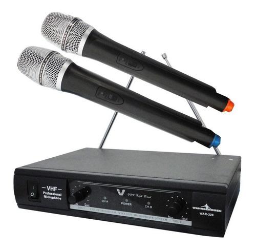 Imagen 1 de 2 de Sistema Profesional Par Microfonos Inalambricos Vhf Juego