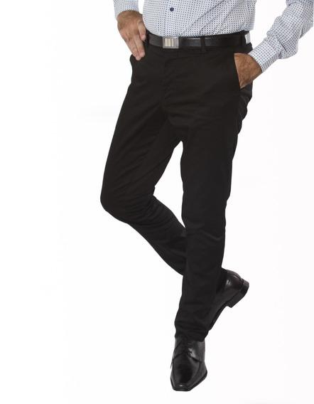 Pantalon Vestir Chupin Satinado Con Spandex Jean Cartier
