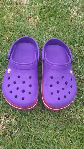 Crocs Crocband Violeta Y Rosa. Nena O Mujer T 36 M4 W6 J4