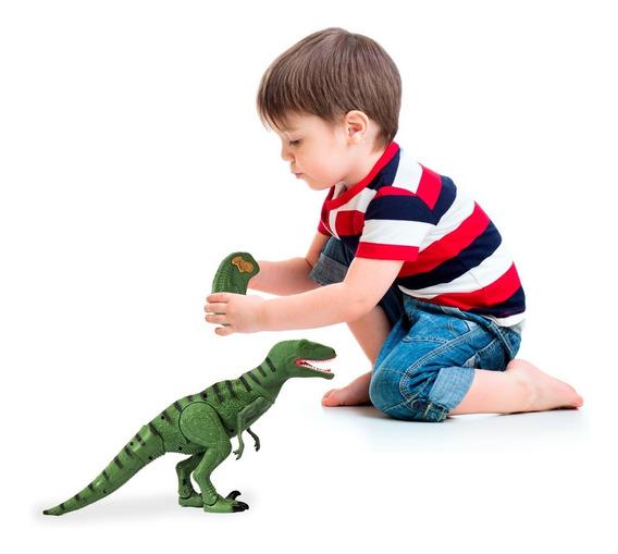 Dinossauro De Brinquedo Controle Remoto Som Rugido Luz