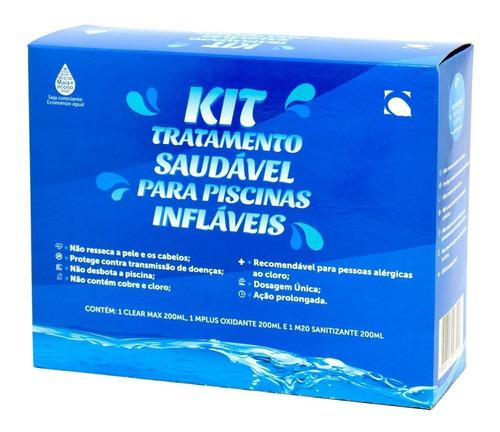 Kit Tratamento Saudável Sem Cloro Para Piscina Inflável