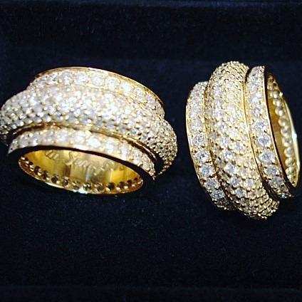 Par De Alianças Ouro 18k E Diamantes Naturais