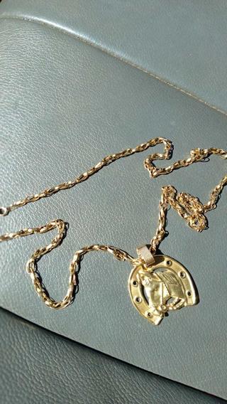 Corrente De Ouro 18 K Medindo 60 Centímetros Peso 15 Gramas