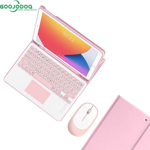 Imagen 1 de 1 de Funda Goojodoq Con Teclado Inalámbrico Y Mouse P/iPad 10.2