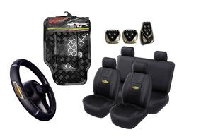 Kit Rekar Chevrolet Capa Banco Pedaleira Volante Tapete