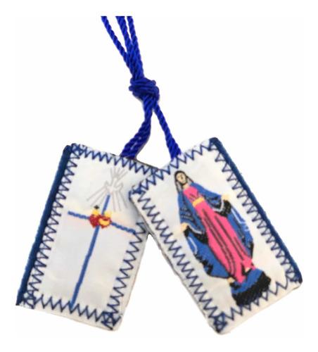 Imagen 1 de 1 de Escapulario Virgen De La Paz Tejido 50 Piezas