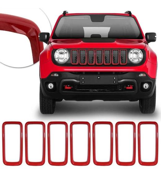 Grade Arcos Jeep Renegade 2019 2020 Cromado Friso Pcd 7pçs G