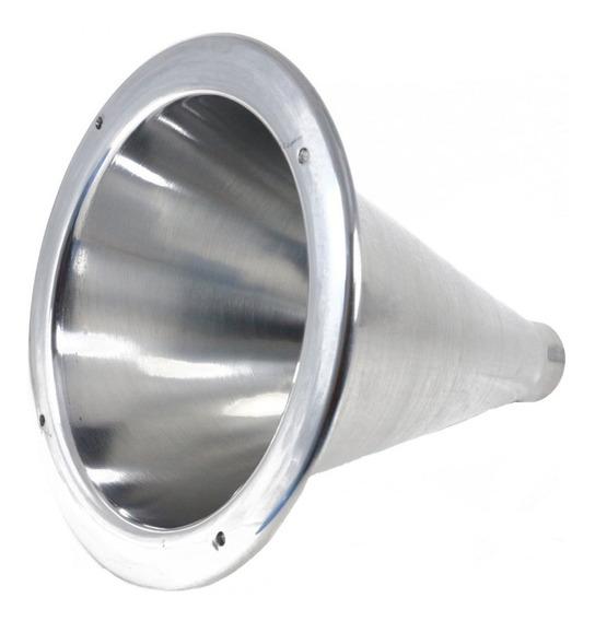 Expansor Corneta De Alumínio Polido Longo D250x Cone Rosca Driver 1 Polegada Som Profissional Automotivo