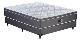 Sommier Simmons BeautySleep 2 plazas 190x140cm gris