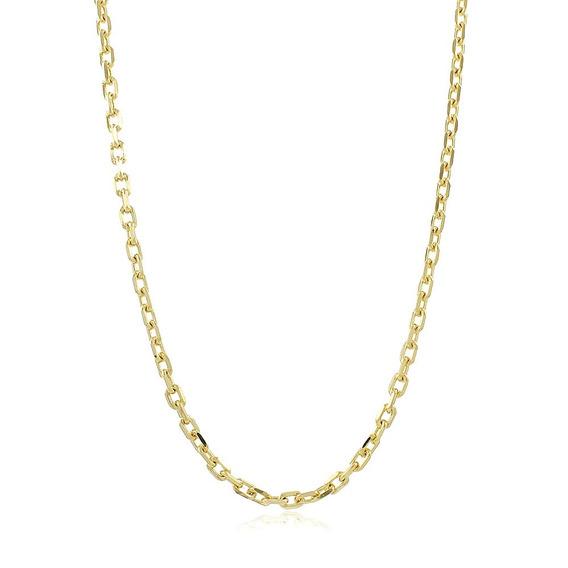 Corrente Banhada Ouro 18 Cordão 34g+pulseira Elo Cadeado+box