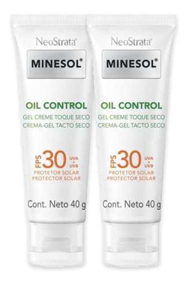 Kit 2 Protetor Solar Neostrata Minesol Oil Control Fps60 40g