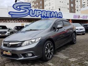 Honda Civic Exr 2.0 2014 Cinza Flex
