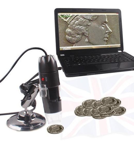 Microscopio Camara Digital Usb Zoom 50x A 1000x 10mpx 8 Led