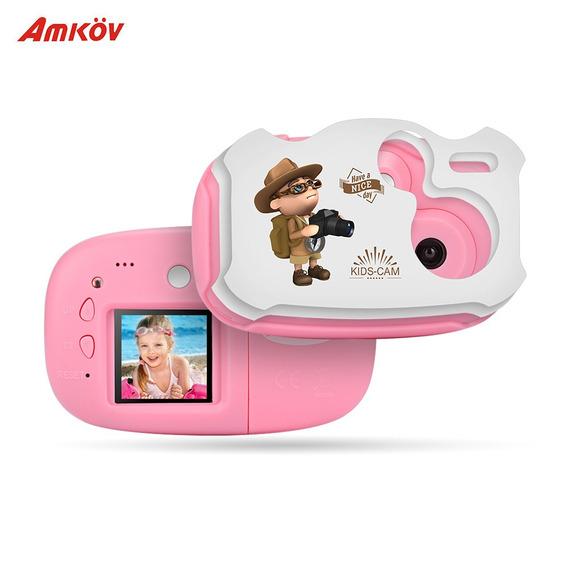 Amkov Mini Crian?as Camera De Vdeo Digital Embutida Bateri