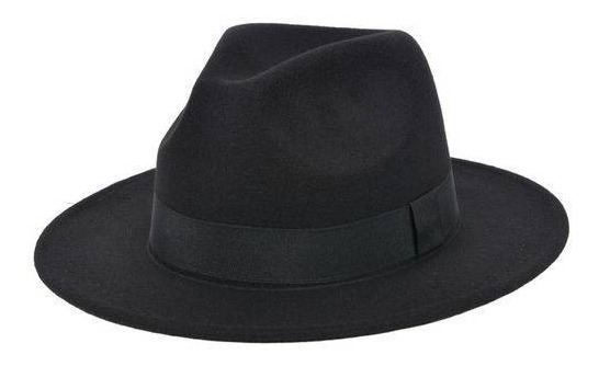 Chapéu Fedora Aba Média Feminino Masculino Clássico
