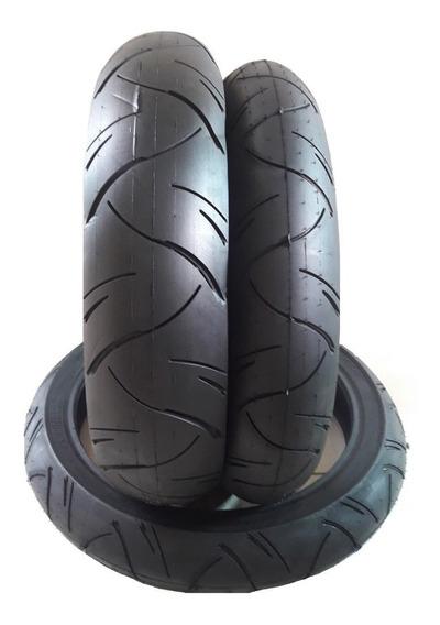 Par Pneu Traseiro Dianteiro Cb 300 Twister Cbx 250 Fazer250 Next250 Novo 140/70-17 E 110/70-17 H(210 Km/h) Furia Cinborg