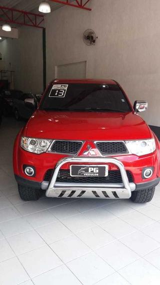 Mitsubishi L200 Hpe Cab Dupla Diesel 3.2 Vermelha 4x4 2013