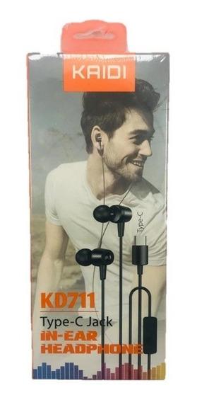 Fone De Ouvido Smartphone Tipo C Com Microfone Kd711