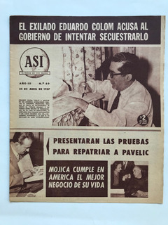 Revista Asi N° 69 Presley Galvez Pavelic Mansfield 1957