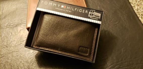 Billetera Tommy Hilfiger Original Cuero 2 En 1 En Caja