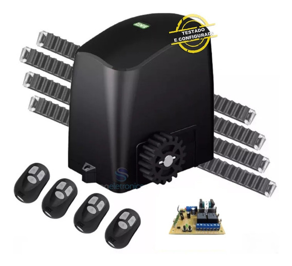 Kit Motor Deslizante 1/5 Rcg 4,2m Cremalheiras 4 Controles