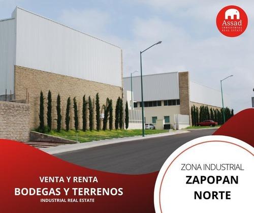 Bodega En Renta-venta / Industrial Warehouse Zapopan Norte Desde 526 M² Hasta 2,540 M²