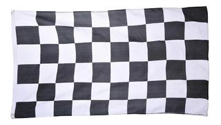 Bandera Cuadros 90 X 150 Cm Meta Carreras Automovilismo