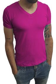 Camisa Gola V Média Elastano Slim Fit Básica Mc Sjons Modas