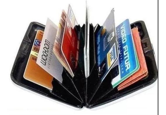 Carteira Cartões Visita Crédito Alumínio