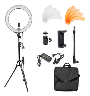 Aro De Luz Set Fotografia Maquillaje Selfie 240 Leds 18 Pulg