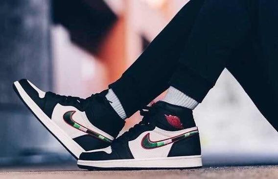 Tenis Nike Air Jordan 1 Retro Color Negro 100% Originales