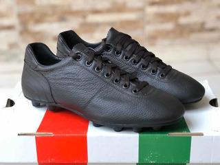 Chuteira De Couro Italiana Pantofola Doro