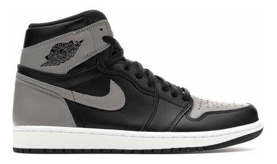 Jordan 1 Retro High Shadow Gris Negro Originales