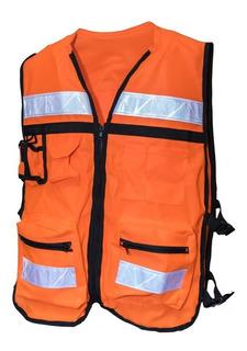 10 Chalecos De Seguridad Bordado Personalizado