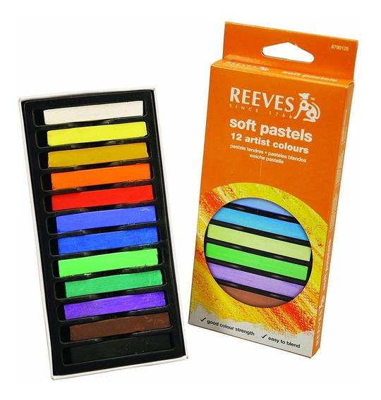 Set 12 Pasteles Arte Pintura Dibujo Gis Colores Difuminar