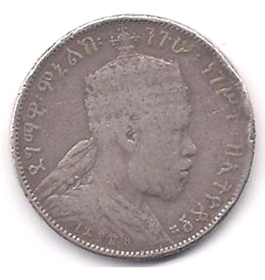 Moneda Etiopia Plata (1889 - 1931) Antigua Rara Africa