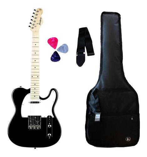 Imagem 1 de 6 de Guitarra Strinberg Tele Tc-120s Bk + Capa +correia+3palhetas