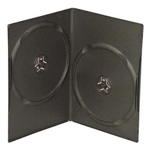 Cajas Dvd 7mm Dobles, Precio Por Pack De 50 Unidades.