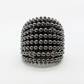 Anel Ródio Microesferas Fechado - Luxo E Requinte!