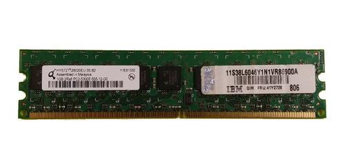 Memoria Ibm Servidor Ddr2-667 Ecc 1gb Pc2-5300f 41y2728