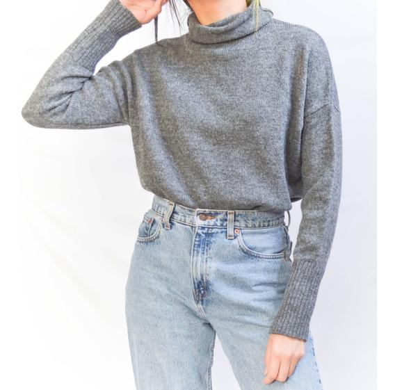 Sweater Gris Cuello Alto United Colors Of Benetton